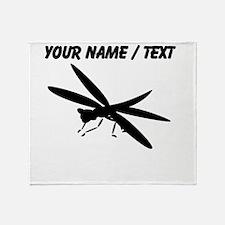 Custom Dragon Fly Silhouette Throw Blanket