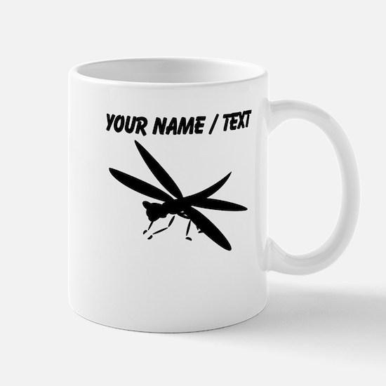 Custom Dragon Fly Silhouette Mugs