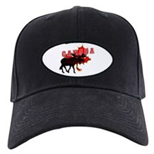 Canada Maple Leaf Moose Baseball Hat