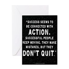 Motivational Quote on Success Greeting Cards