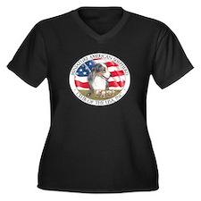 MASCUSA Logo Women's Plus Size V-Neck Dark T-Shirt