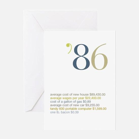1986 Fun Facts Birthday Greeting Card