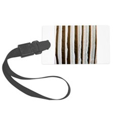 Brown distressed stripes Luggage Tag