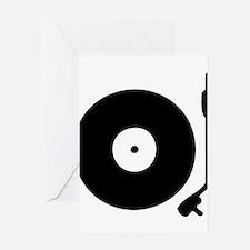 Vinyl Turntable 1 Greeting Cards