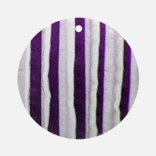 Purple Distressed Stripes Ornament (Round)