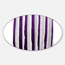 Purple Distressed Stripes Decal