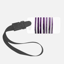 Purple Distressed Stripes Luggage Tag