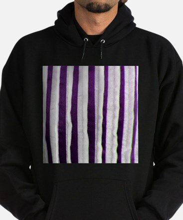 Purple Distressed Stripes Hoodie