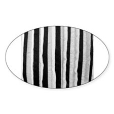Black distressed stripes Decal