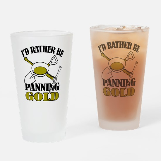 Unique Gold panning Drinking Glass
