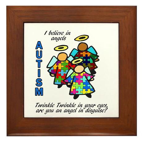 3 Autism Angels Framed Tile