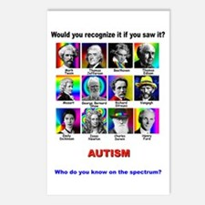 autism aspergers Postcards (Package of 8)