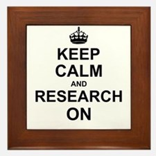 Keep Calm and Research on Framed Tile