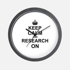 Keep Calm and Research on Wall Clock