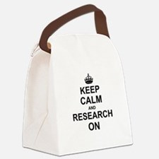 Keep Calm and Research on Canvas Lunch Bag