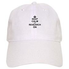 Keep Calm and Research on Baseball Cap