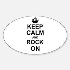 Keep Calm and Rock on Decal
