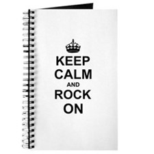 Keep Calm and Rock on Journal