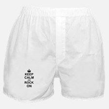 Keep Calm and Rock on Boxer Shorts
