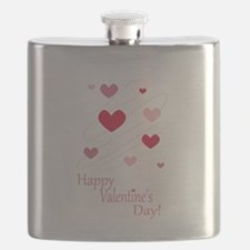 Happy Valentines Day Hearts Flask
