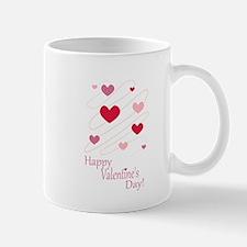 Happy Valentines Day Hearts Mugs