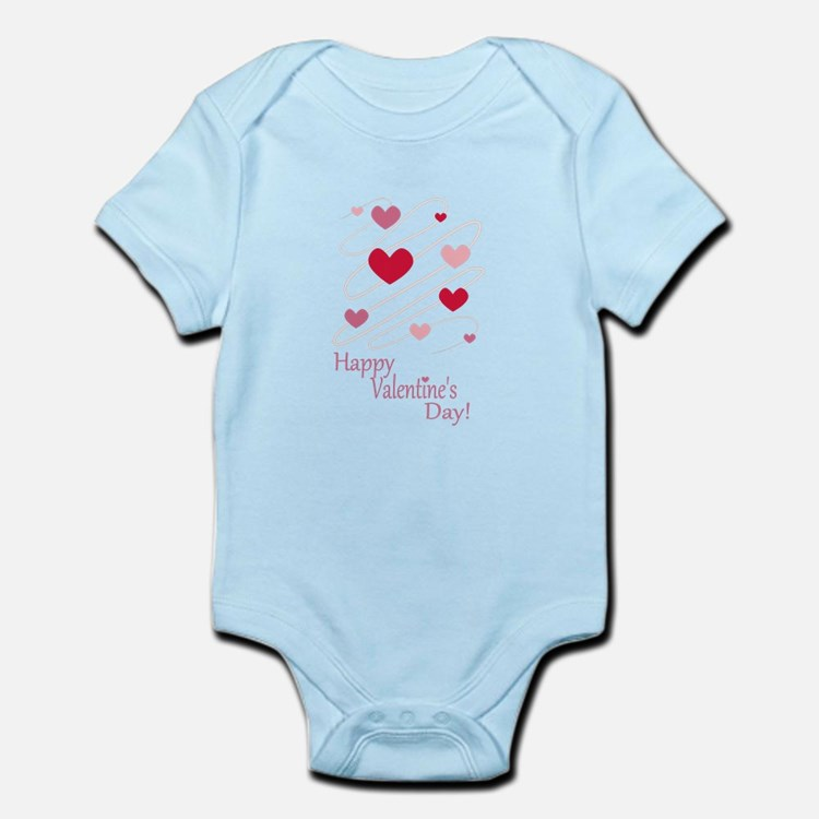 Happy Valentines Day Hearts Body Suit