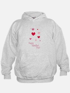 Happy Valentines Day Hearts Hoodie