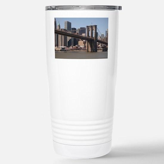 Brooklyn Bridge Stainless Steel Travel Mug