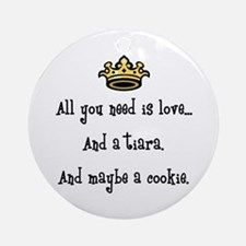 Love And A Cookie Ornament (Round) Ornament (Round