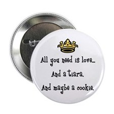 """Love And A Cookie 2.25&Quot; 2.25"""" Button"""