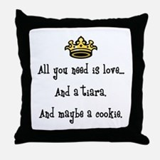 Love and a Cookie Throw Pillow