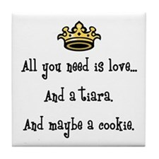 Love And A Cookie Tile Coaster