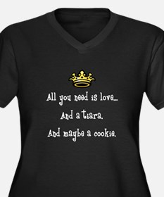 Love and a C Women's Plus Size V-Neck Dark T-Shirt
