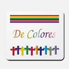 De Colores Rainbow Crosses Mousepad