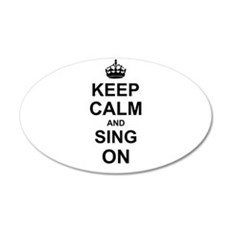 Keep Calm and Sing on Wall Sticker