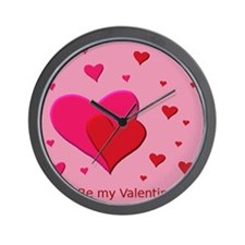 Be My Valentine Hearts Wall Clock