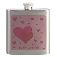 Be My Valentine Hearts Flask