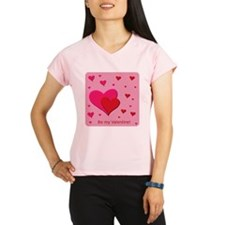 Be My Valentine Hearts Performance Dry T-Shirt