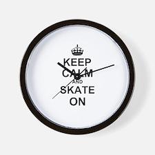 Keep Calm and Skate on Wall Clock