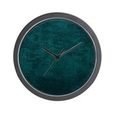 teal fabric texture Wall Clock