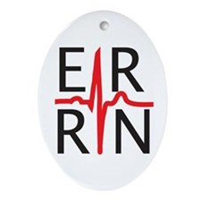 ER RN Oval Ornament