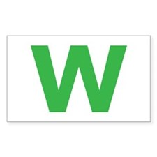 Letter W Green Decal