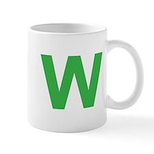 Letter W Green Mugs
