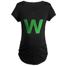 Letter W Green Maternity T-Shirt