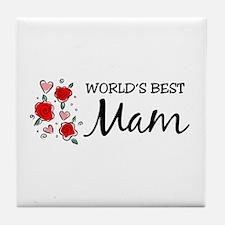 WB Mom [Welsh] Tile Coaster