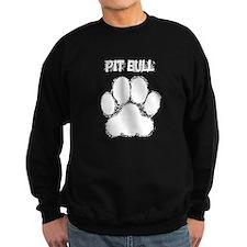 Pit Bull Distressed Paw Print Sweatshirt
