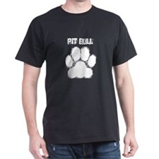 Pit Bull Distressed Paw Print T-Shirt