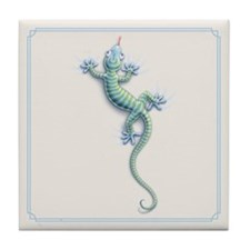 Hang On Gecko Tile Coaster