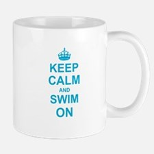 Keep Calm and Swim on Mugs