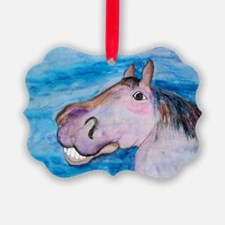 Funny pink pony Ornament